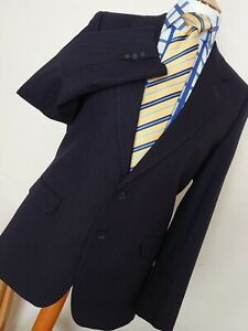 Mens Austin Reed 2 Piece Wool Suit Navy Blue 38 Ebay