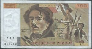100-FRANCS-DELACROIX-1978-J-3-Billet-de-banque-francais-TTB