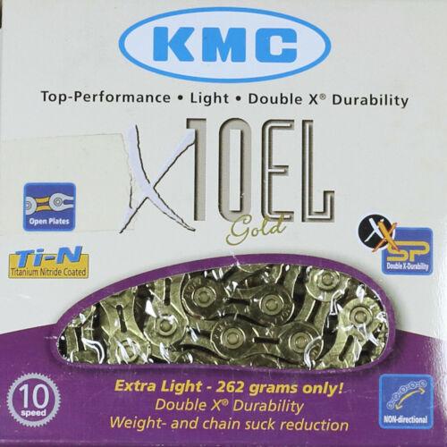 KMC KETTE X10 EL GOLD 10 FACH 114 GLIEDER FÜR SRAM SHIMANO CAMPAGNOLO