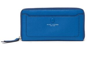 44a287e74535 Image is loading Marc-Jacobs-Wallet-Vertical-Zip-Ultra-Blue-NEW-