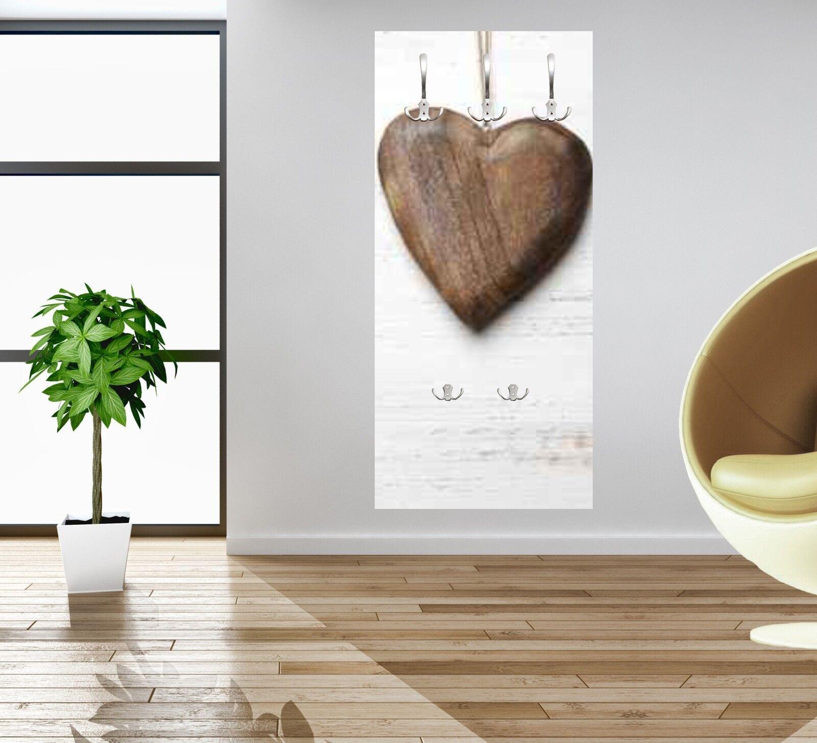 Wandgarderobe Herz aus Holz Holz Holz WG226 Garderobe Flurgarderobe | Das hochwertigste Material  881639