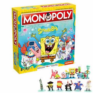 Monopoly SpongeBob Schwammkopf Deutsch/Französisch Brettspiel Gesellschaftsspiel