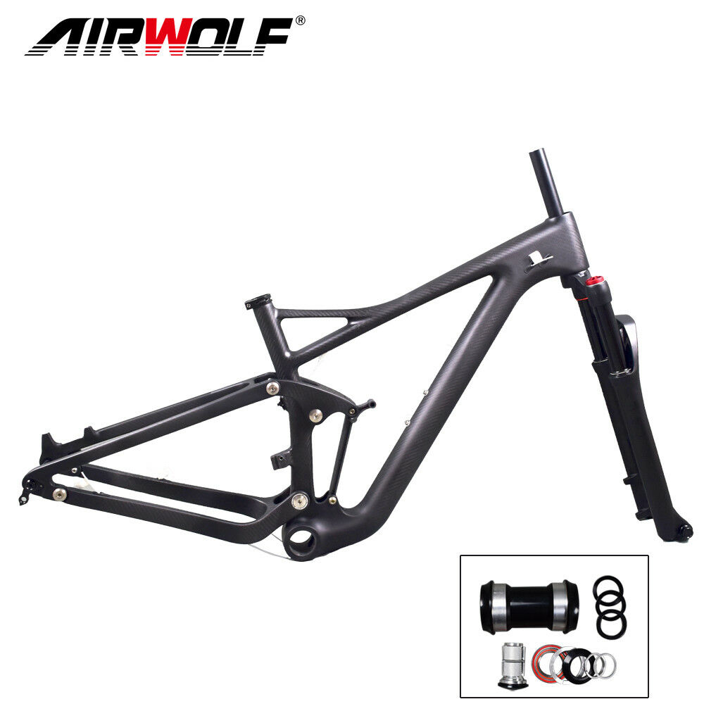 Kohlenstoff Suspension Mtb Rahmen 29er Mountain Bike Enduro FramesetGabel 1519
