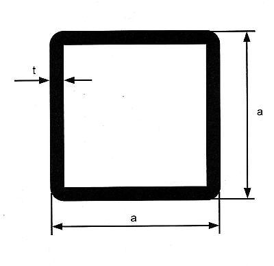 Edelstahl Vierkantrohr Bis 60 Cm Quadratrohr Kastenprofil Vierkant Rohr K240 V2a