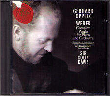 Gerhard OPPITZ: WEBER Klavierkonzerte Nr.1 & 2 Polonaise COLIN DAVIS CD Concerto