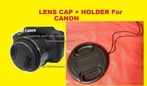 LENS CAP  DIRECTLY to CAMERA CANON POWERSHOT SX-50HS SX50HS SX50 HS HOLDER
