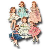 """Vtg Toddler, Baby Doll Clothes Dress Pattern ~ 16"""" 17"""" Saucy Walker, Tootles"""