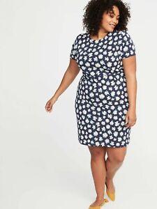 NWT - Womens Old Navy Plus Ponte Knit Daisy Sheath Dress - Plus Size ...