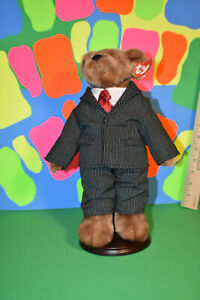 """Ty Attic Treasure Collection """"William"""" Beanie Baby PVC Korea Dressed For Success"""