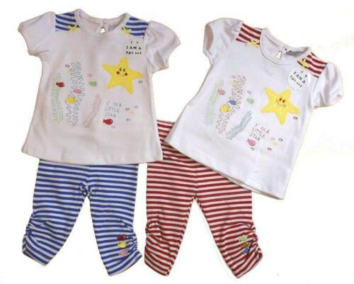 Baby girls Striped top I/'m a little star embroidery and applique outfit set