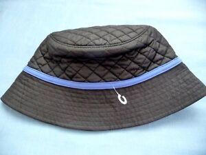 Lands  End Hat New S M Black Bucket Primaloft Quilted Black Blue ... dcde6ec0b46