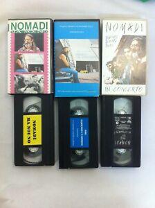 Nomadi-3-Cassette-VHS-Tape-Ma-Noi-No-In-Concerto-numerata-Gente-Come-Noi