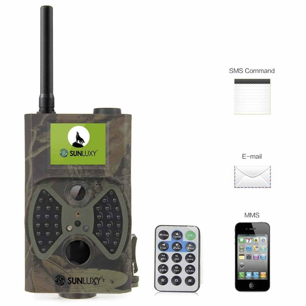 SUNLUXY Wild Hunting-Camera 12MP HD GSM MMS GPRS SMS Infrared Cellphone +SD Card