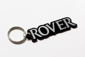 Rover-Keyring-Brushed-Chrome-Effect-Classic-Car-Keytag-Keyfob