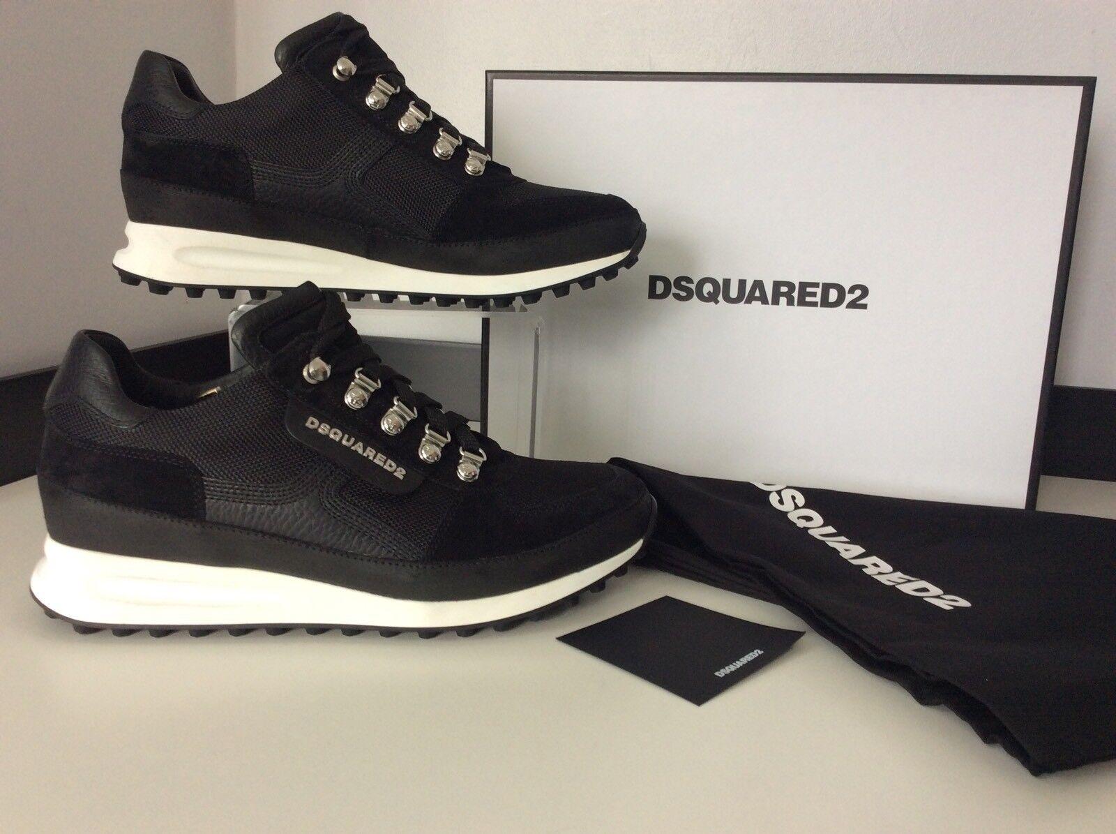 DSQUArojo 2 Ds2 Para hombre Zapatillas, corrojoores, Zapatillas Eu39, Negro Y blancoo Nuevo