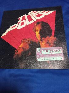 The-Police-Japan-tour-book-amp-ticket-stub-1981-Tokyo-Budokan-Sting-bass
