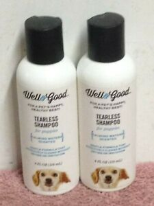 Two-4-Oz-Bottles-Well-amp-Good-TEARLESS-SHAMPOO-FOR-PUPPIES-Calming-Waters-Scented