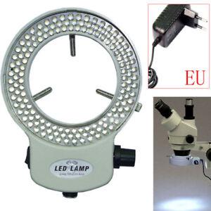 144LED-Adjustable-Ring-Light-Illuminator-for-Stereo-Microscope-White-EU-Plug-NEW