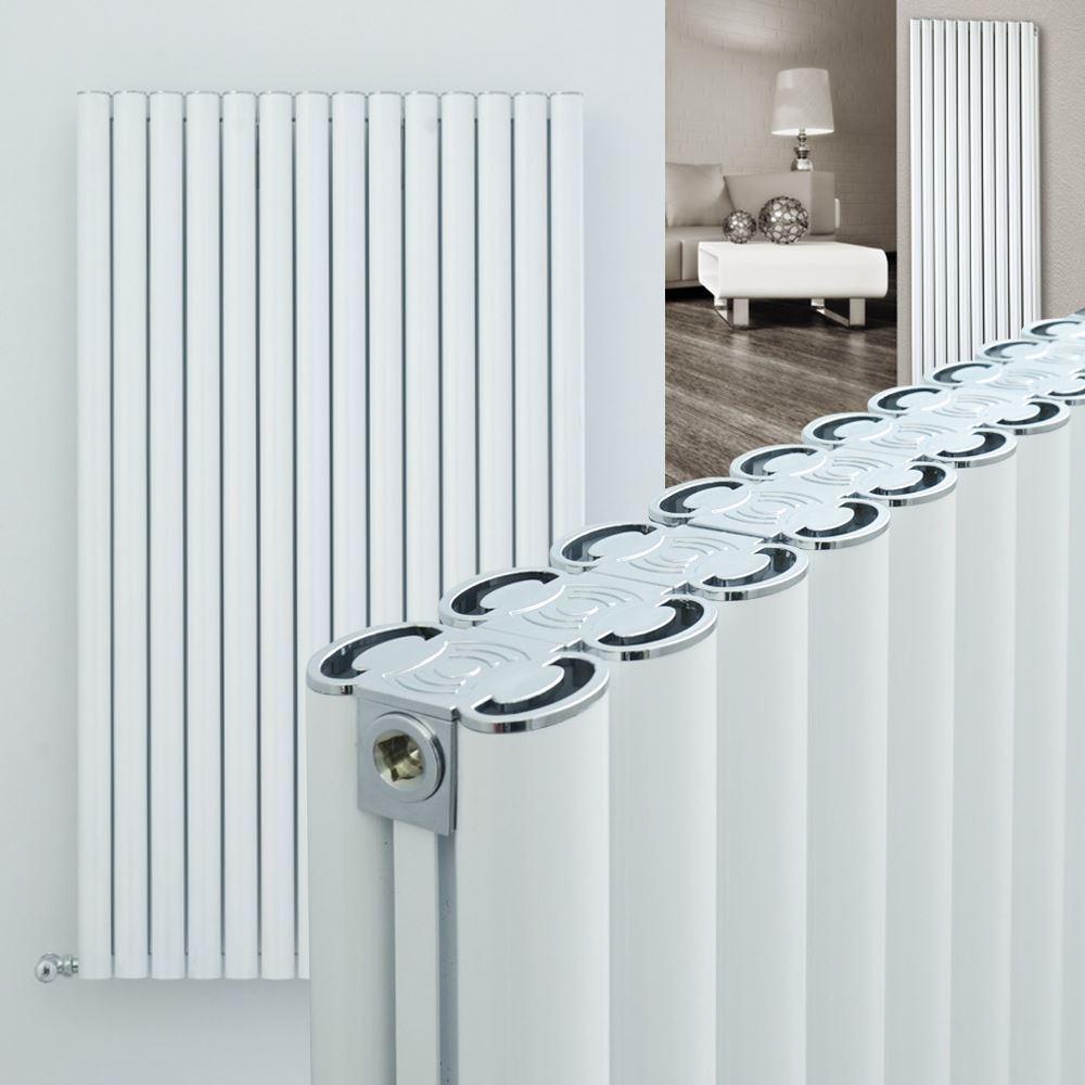 Ultraheat  Visage  Double Blanche Aluminium vertical, designer RADIATORS haute BTU