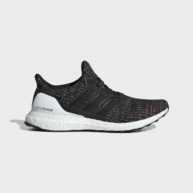 detailed look b5224 1e91c NEW Adidas UltraBOOST 4.0 F35232 Black Multi-Color White Mens Running Shoes