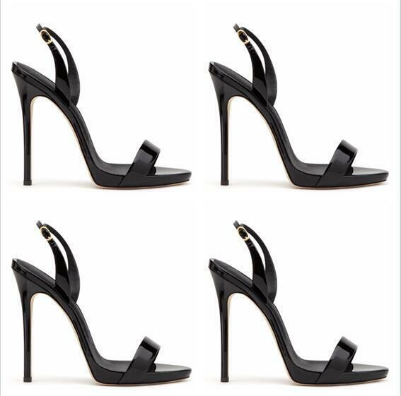 Slingbacks Damenschuhe Open Toe Super High Heel Stiletto Pumps Sandalen Sexy TOP