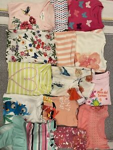 Girls-Clothes-Lot-Size-2-Lot-Summer-Burt-039-s-Bees-H-amp-M-Cherokee-Circo