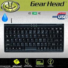 Gearhead Quiet 89 Key Spill Resistant Mini USB Keyboard w/ *METAL BASE* PC + MAC