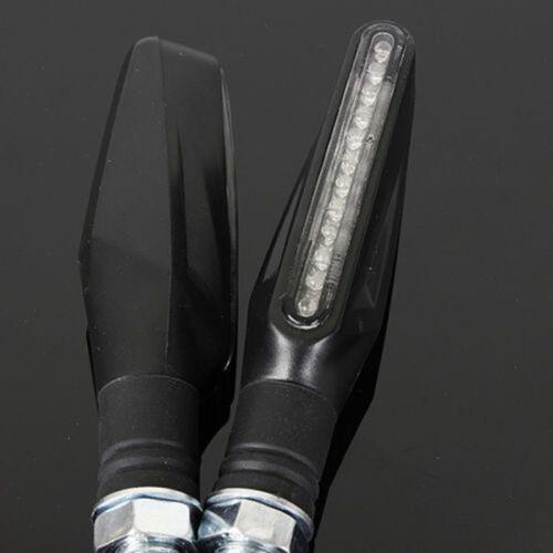 2 X Clignotant Long Flexible Discret MOTO YAMAHA KAWASAKI BMW HONDA DUCATI KTM