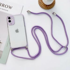 COQUE IPHONE+CORDON SILICONE IPHONE 7 8 11 IPHONE X XS XR IPHONE 11 PRO (VIOLET)