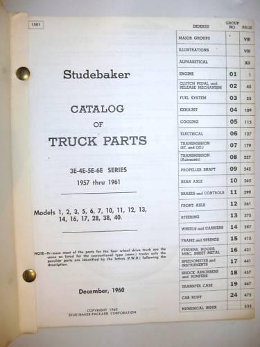 1957 1958 1959 1960 1961 Studebaker ORIG Truck Parts Catalog/_3E//4E//5E//6E Series