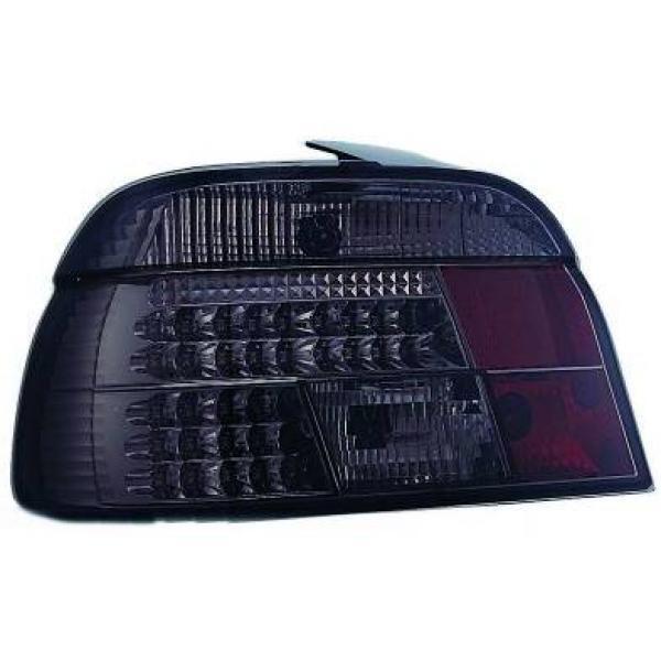 Trasera Trasera Luces Par Set LED Transparente Negro para Bmw 5 Serie E39 95-00