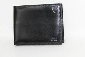 ASPINAL-OF-LONDON-Smooth-Black-amp-Cobalt-Blue-Suede-8-Card-Wallet-Embossed-NEW