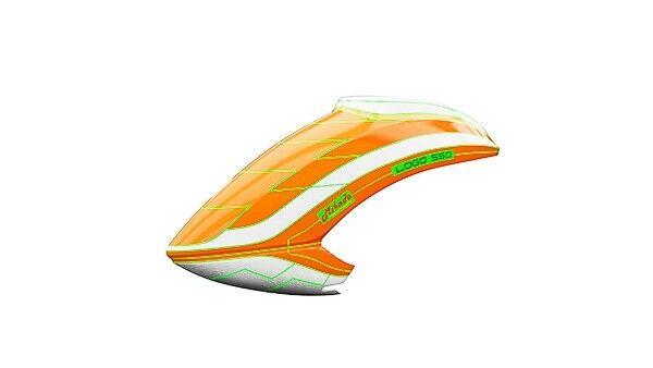 NUOVA calotta 550 Neon-LOGO ARANCIONE/BIANCO MIK05165