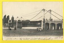 Carte Postale Ecrite en 1904 Vue Rare 91 - EVRY Petit Bourg Le PONT SUSPENDU