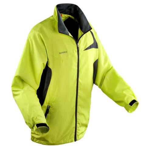 Spiro Unisex Micro-Lite Team Jacket Water Resistant Sports Track Top S180X