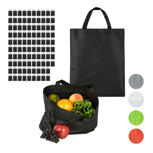 100 x bolsa de tela umhängebeutel bolso de tela bolsas de compra bolsa de tela negro