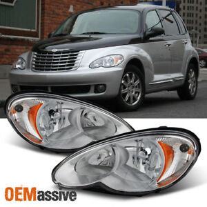 Image Is Loading Fit 2006 2010 Chrysler Pt Cruiser Replacement Headlights