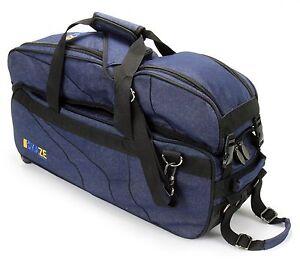 KAZE-3-Ball-Bowling-Bag-Triple-Tote-Tournament-Roller-Detachable-Shoe-Pocket