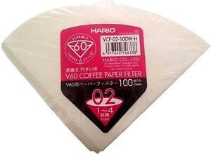 Hario Paper Filters for V60 Dripper Coffee Maker, Compatible Size 02 1-100pcs