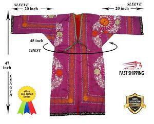 Silk-Vintage-Bird-Uzbek-Suzani-Beautiful-Embroidery-Robe-Chapan-SALE-WAS-145-00
