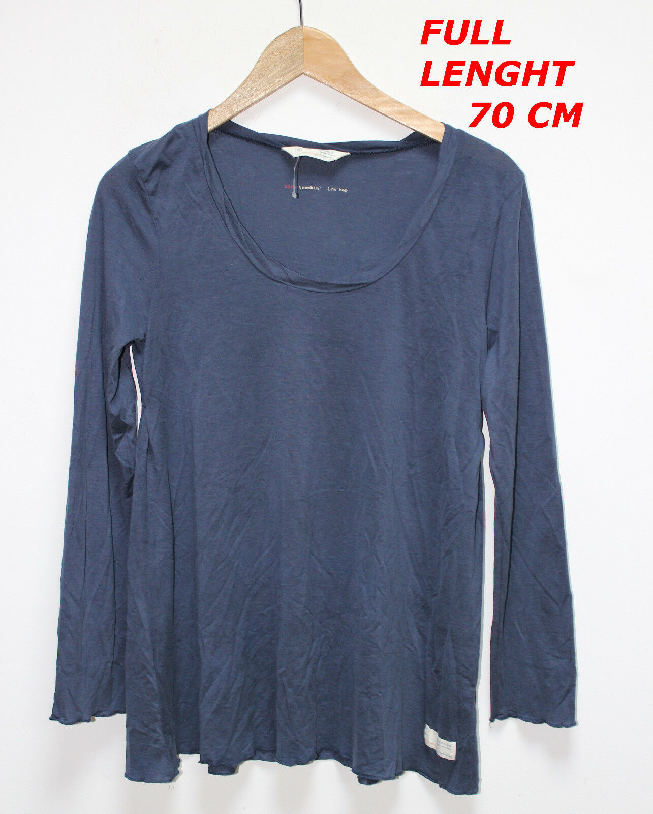 ODD MOLLY WOMAN LADY SHIRT BLOUSE LONG SLEEVE MARKED Größe 1 Blau Farbe HIGH 70 C