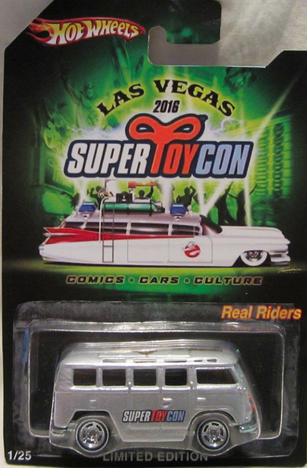 Hot Wheels CUSTOM VW DELUXE WAGON 2016 Las Vegas Con. Real Riders 1 25 Made