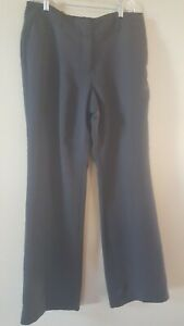 EUC Ann Taylor Signature Fit Dress Pants Size 8 Womens Boot Leg Black Lined