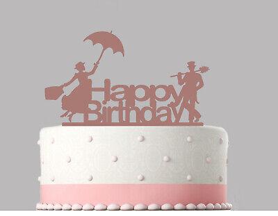 Mary Poppins Birthday Rose Gold mirror Acrylic Decoration ...