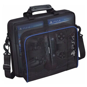 Multifunctional PS4 Outdoor Travel Carry Case Shockproof Protective Bag Black