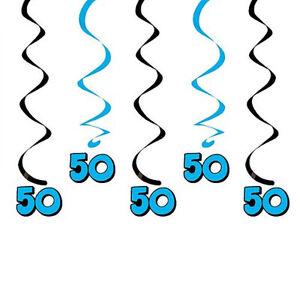 Święta i specjalne okazje 40th Birthday Hanging Swirls 5 dizzy danglers in pkg black & orange colors