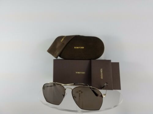 Brand New Authentic Tom Ford TF 505 Sunglasses Walker TF505 28E 57mm Gold Brown