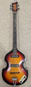 Vintage Univox Violin Bass - 1960's - Sunburst - Killer Light Bass