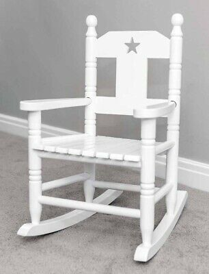 Children's White Wooden Rocking Chair Bedroom Playroom Seat 5060562976019 | eBay