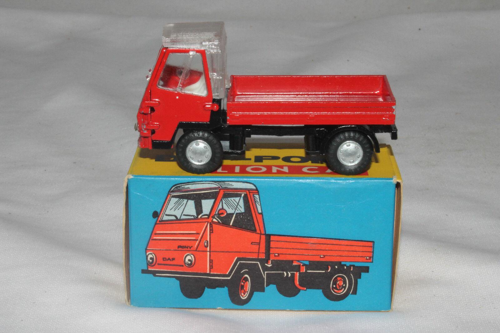 1960's León coche Daf Pony Truck, rosso, nmib
